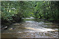 ST1895 : Weir, River Sirhowy, Pontllanfraith by M J Roscoe