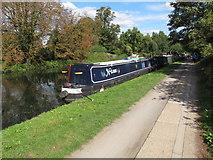 TQ2282 : Nasus,  narrowboat on Paddington Arm, Grand Union Canal by David Hawgood