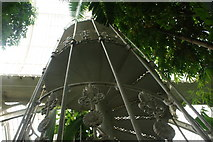TQ1876 : Looking up the spiral staircase in the Palm House by Robert Lamb