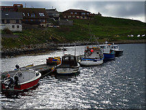 HU3635 : Moored at Hamnavoe Marina by John Lucas