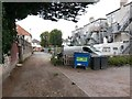 SZ1492 : Tuckton: behind a parade of shops on Tuckton Road by Chris Downer