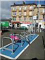 NS6065 : Nextbike Glasgow cycle hire point: Bellgrove railway station by Thomas Nugent