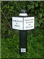 SK4228 : Canal Milepost by Graham Hogg