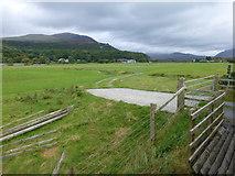 SH5840 : Farm track level crossing near Pont Croesor by Raymond Knapman