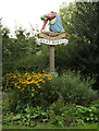 TL8967 : Great Barton Village sign by Adrian Cable