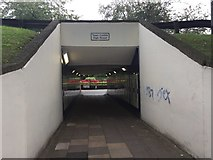 SJ8545 : Newcastle-under-Lyme: subway under Grosvenor Gardens roundabout by Jonathan Hutchins
