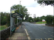 SD7543 : Bus stop and shelter on Chatburn Road (A671) by JThomas