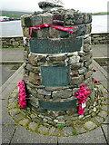 HU4039 : The 'Shetland Bus' memorial - close-up by John Lucas