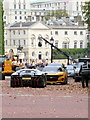 TQ2980 : Film Set at Horse Guards Road by PAUL FARMER