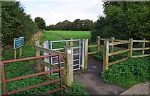 SP2705 : Entrance to Willow Meadows, Carterton, Oxon by P L Chadwick