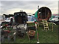SP2970 : Glimpses inside a horsebox and a gypsy caravan, Kenilworth Horse Fair by Robin Stott