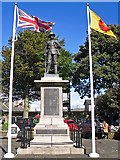 SD4970 : Carnforth war memorial by Rose and Trev Clough