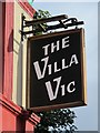 NZ2363 : Sign for The Villa Victoria, Westmorland Road, NE4 by Mike Quinn