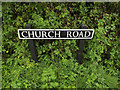 TM1191 : Church Road sign by Adrian Cable