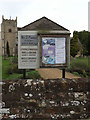 TM1192 : All Saints Church Notice Board by Adrian Cable