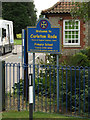 TM1192 : Carleton Rode Primary School sign by Adrian Cable