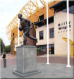 SO9199 : Billy Wright statue outside the Billy Wright Stand,  Molineux Stadium, Wolverhampton by Jaggery