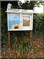 TM1179 : Denmark Street Gospel Hall Notice Board by Adrian Cable