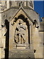 TL3800 : Statue of King Harold on Waltham Abbey church by Stephen Craven