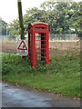 TM1485 : Disused Telephone Box on Wash Lane by Adrian Cable