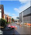 ST3188 : Temporary traffic lights, Rodney Road, Newport by Jaggery