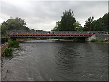 NY4724 : Bailey Bridge over the River Eamont, Pooley Bridge by Anthony Foster
