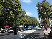 TQ3080 : Cycle superhighway, Victoria Embankment looking north by Stephen Craven