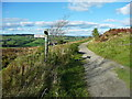 SE0136 : Signpost at a path crossing, Penistone Hill, Haworth  by Humphrey Bolton