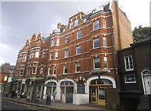 TQ2576 : Shops on New King's Road, Parsons Green by David Howard