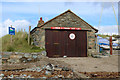 SH5627 : Llanbedr and Pensarn Yacht Club Boathouse by Chris Heaton