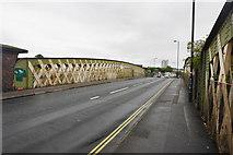SU4212 : Northam Road crossing the railway by Bill Boaden