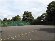 SJ8748 : Sports court in Cobridge Park by Jonathan Hutchins