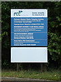 TM1886 : Pulham Market Waste Transfer site sign by Adrian Cable