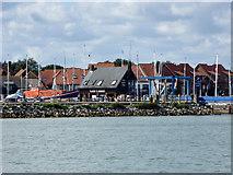SU4208 : Lock control building, Hythe Marina Village by Robin Webster