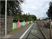 SJ8748 : Cobridge: former railway bridge beside the A53 by Jonathan Hutchins