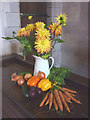 SD3687 : Harvest display in St Peter's Church, Finsthwaite by Karl and Ali