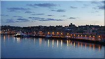 HU4642 : Lerwick at dusk from Bressay Sound by Julian Paren