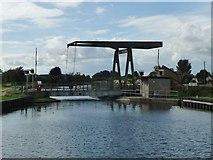 SE6912 : Wykewell lift bridge, open for road users by Christine Johnstone