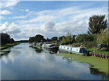 SE6912 : Moored boats, Wike Well End, Thorne by Christine Johnstone