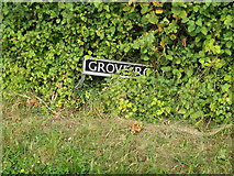 TM1585 : Grove Road sign by Adrian Cable