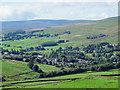 NY7247 : Farmland above Alston by Mike Quinn
