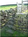SE0225 : Steps and footpath gate on Hebden Royd FP57 at Hob Lane, Mytholmroyd by Humphrey Bolton
