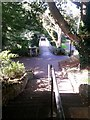 SZ1091 : Boscombe Chine Gardens: the foot of footpath F01 by Chris Downer