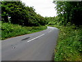 SS0998 : Bend in the A4139 east of Lydstep by Jaggery