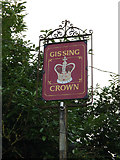 TM1485 : The Crown Public House sign by Adrian Cable