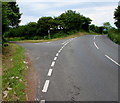 SS0998 : A4139 passes a minor road junction in rural Pembrokeshire by Jaggery