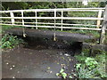 TM1485 : River & footbridge at Malthouse Lane Ford by Adrian Cable