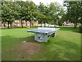 SJ8747 : Outdoor table tennis facility in Festival Park by Jonathan Hutchins