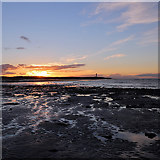 NJ2270 : Sunset at Lossiemouth West Beach by Walter Baxter