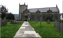 SH7400 : Grade II listed St Peter's Parish Church, Machynlleth by Jaggery